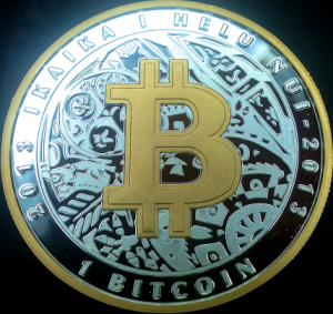 Lealana 1 BTC One Ounce Silver Gold Plated Front.png